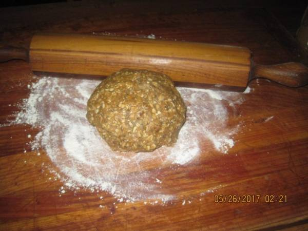 Rolling out Doggie Biscuit Dough