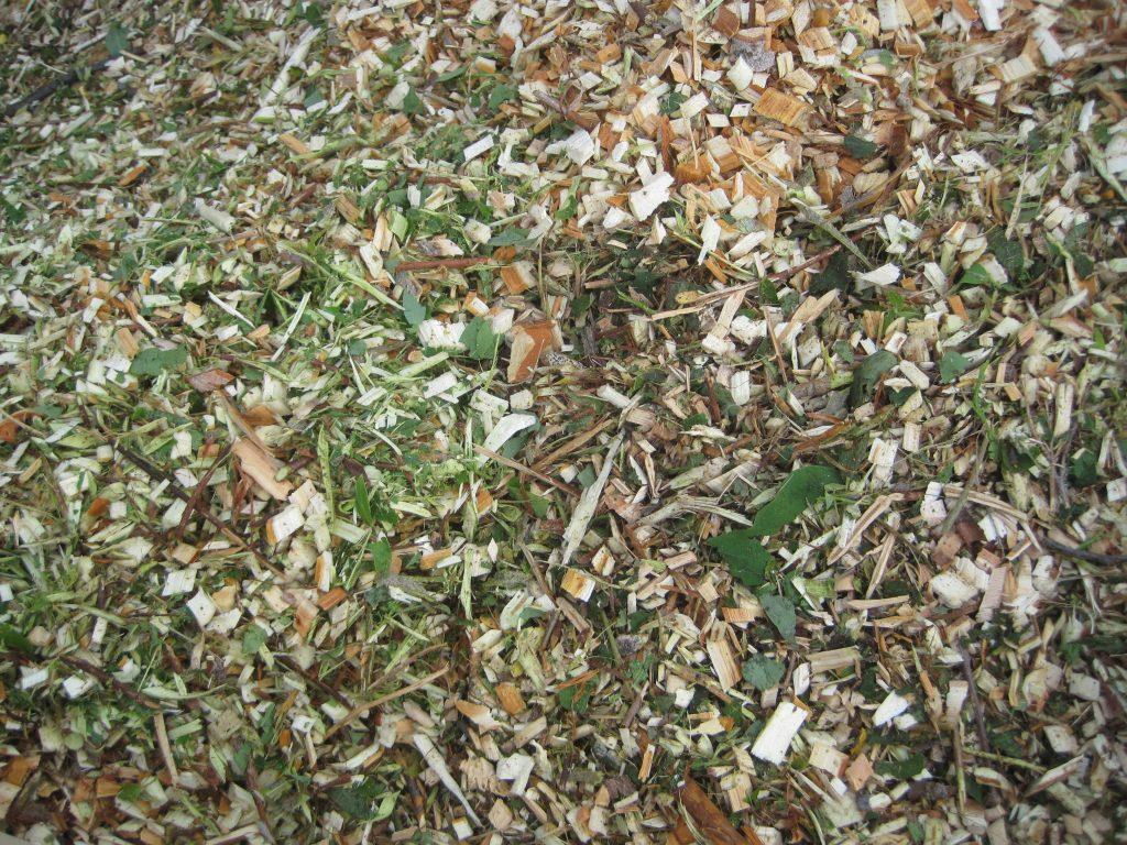 Close Up of Fresh Woodchip Mulch