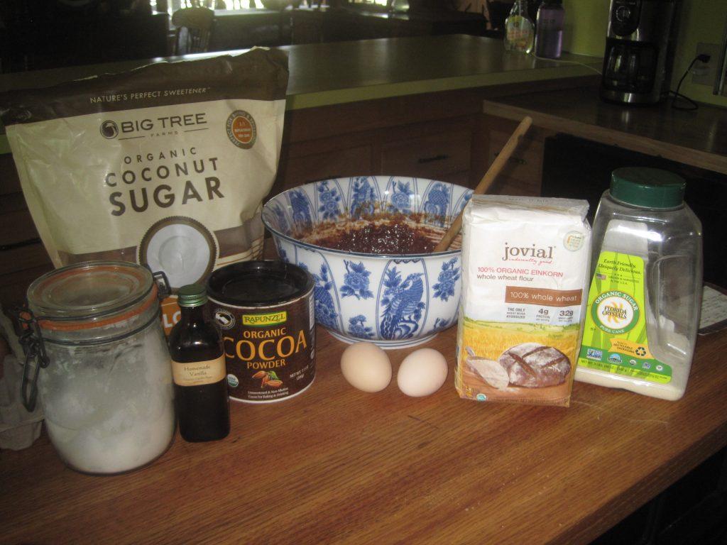 Ingredients for Healthy Skinny Organic Brownies