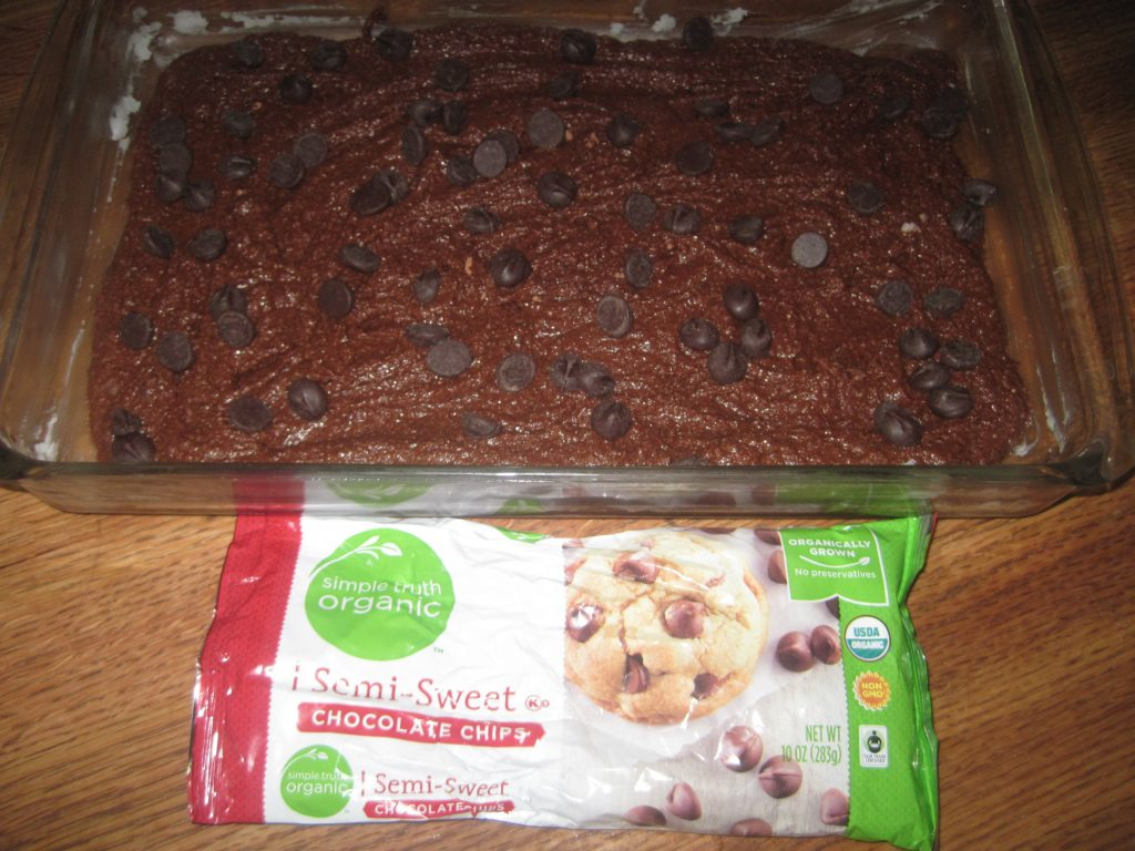 Healthy Organic Brownies ready to be put in the oven