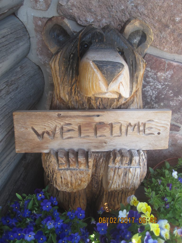 Welcoming Wooden Bear
