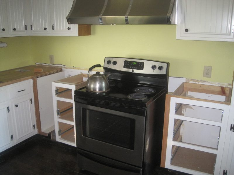 Remodel project on an old kitchen