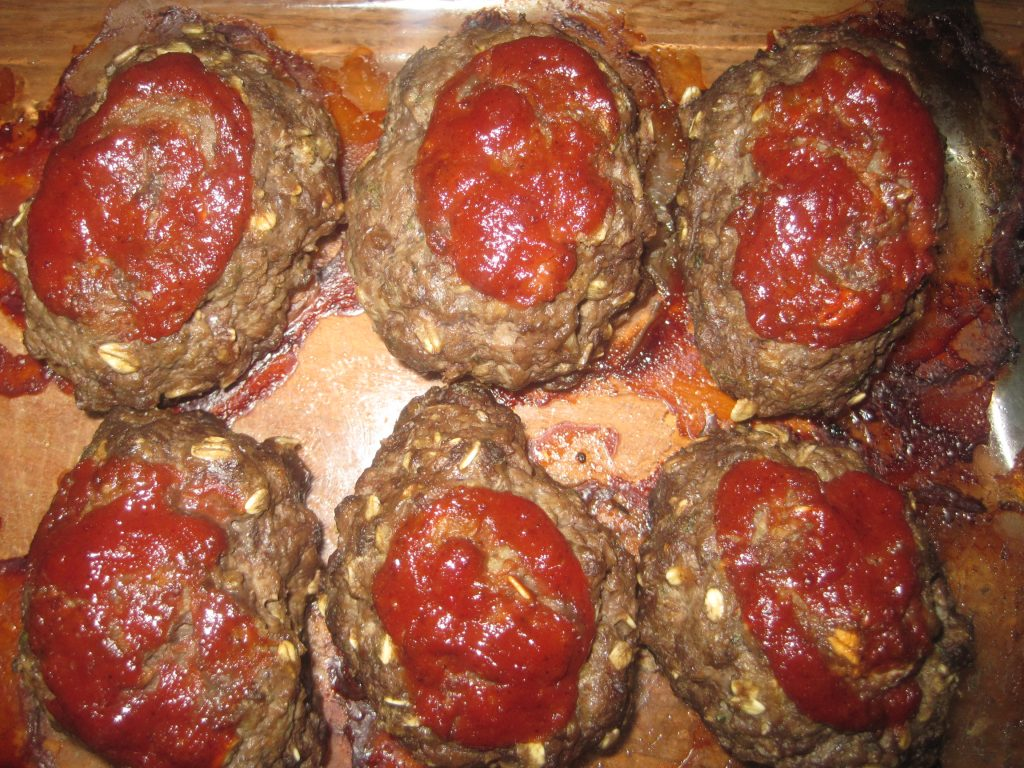 This is a photo of delicious homemade meatloaf made from an easy meatloaf recipe.