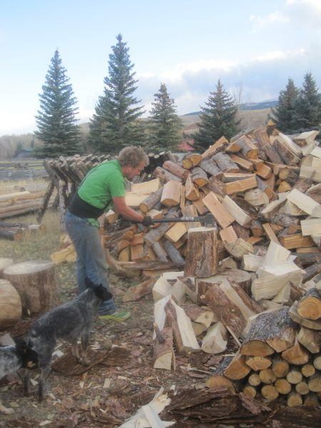 stacking firewood is one thoughtful gift of time ideas