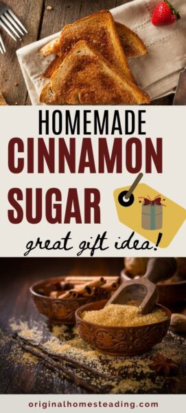 promo text: Homemade Cinnamon Sugar | Easy Recipe & Ratios