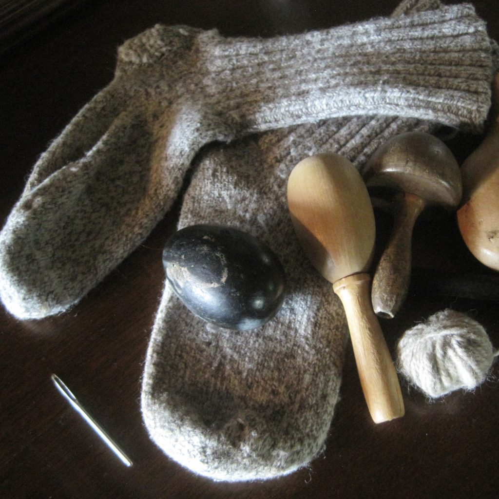 How to Darn Wool Socks | Darning Socks
