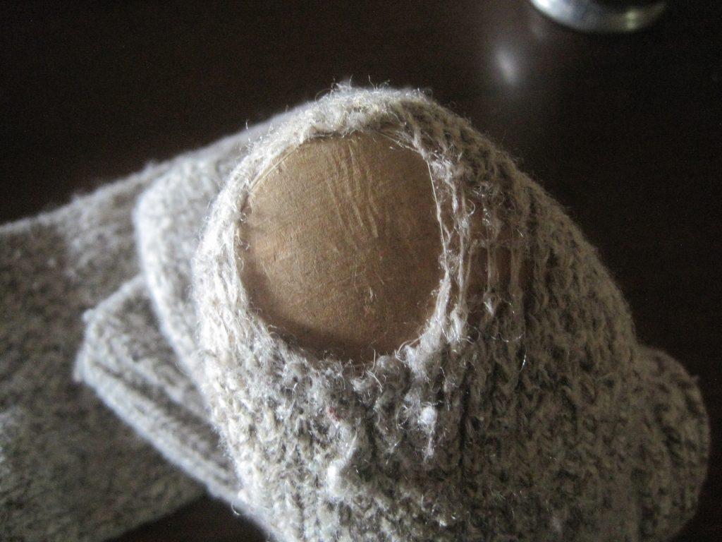 Darning Wool Socks Method