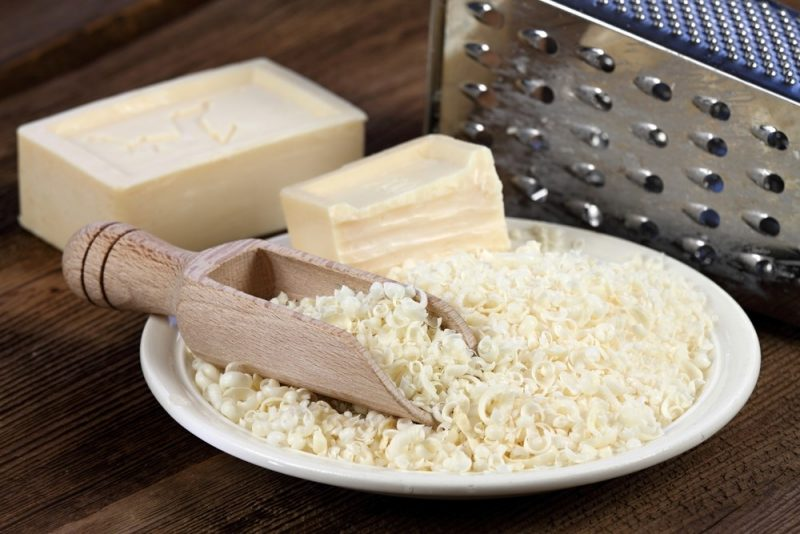grated soap for homemade laundry detergent
