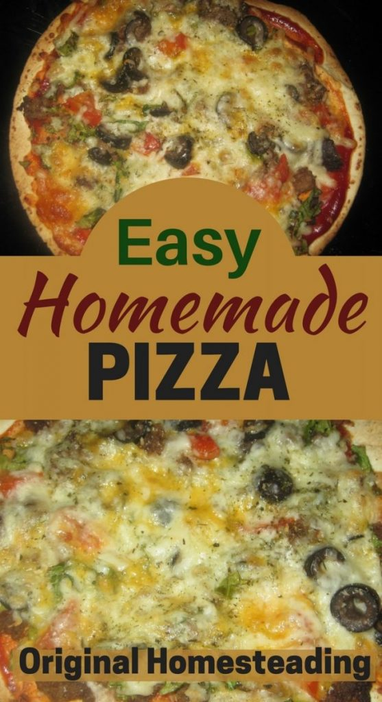 Pizza can be easy to make at home even if you are in a hurry.