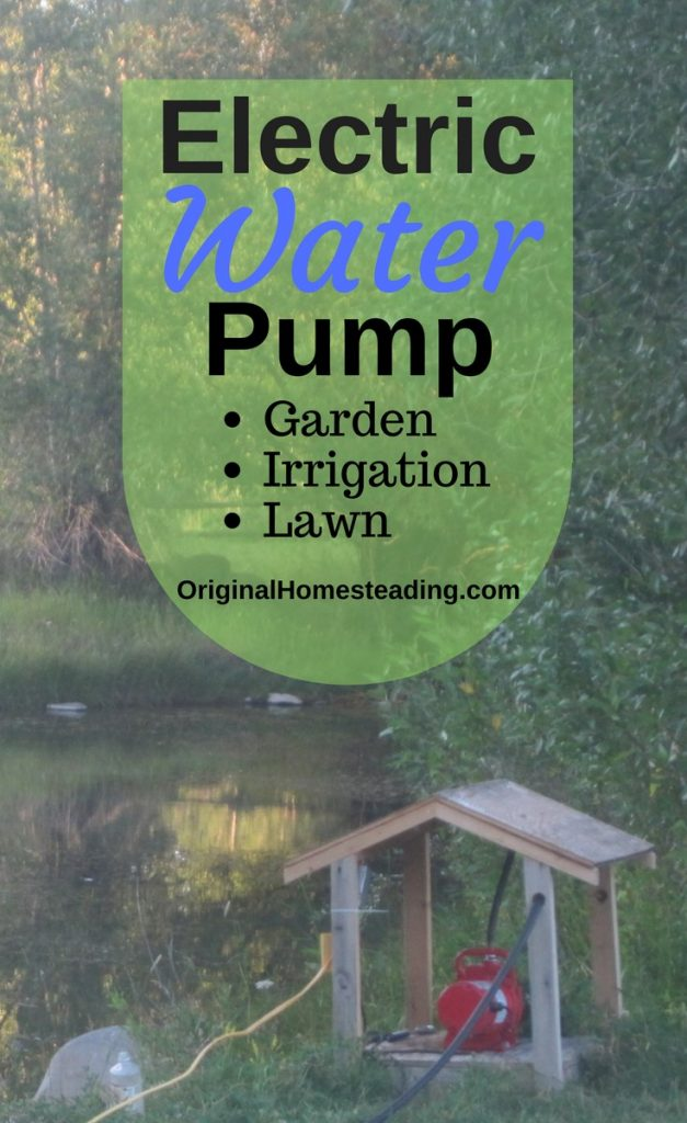ELECTRIC WATER PUMP | Irrigating Garden or Lawn promo image