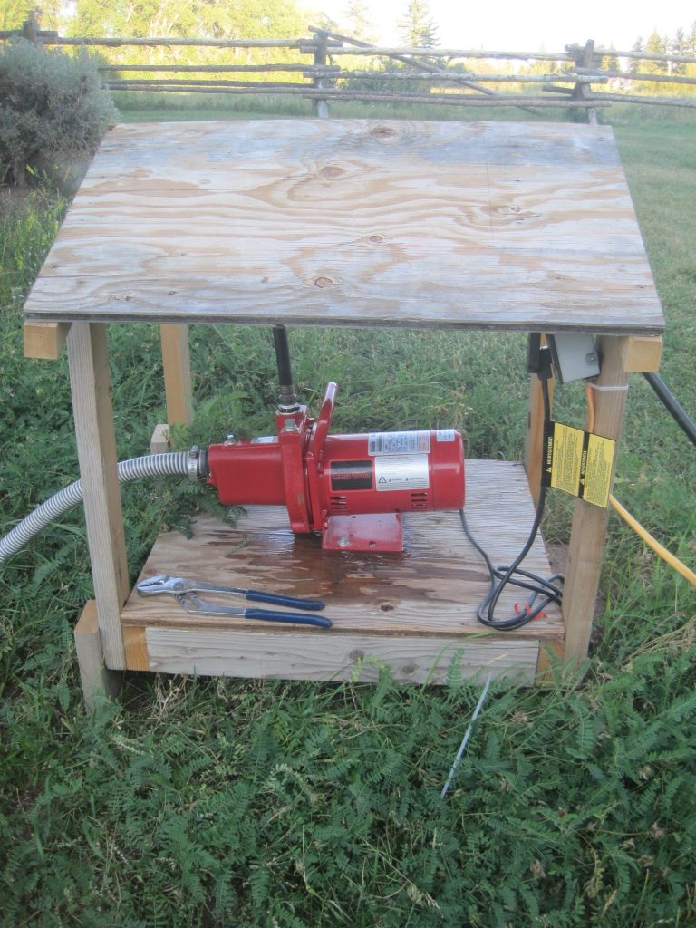 This is a photo of the pump electrical box at the pump site.