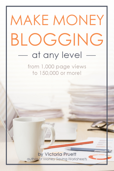 Learn how to make money blogging even if you only have 1,000 monthly page views! Get real actionable tips to start earning an income blogging, and learn how to make a living as a blogger!