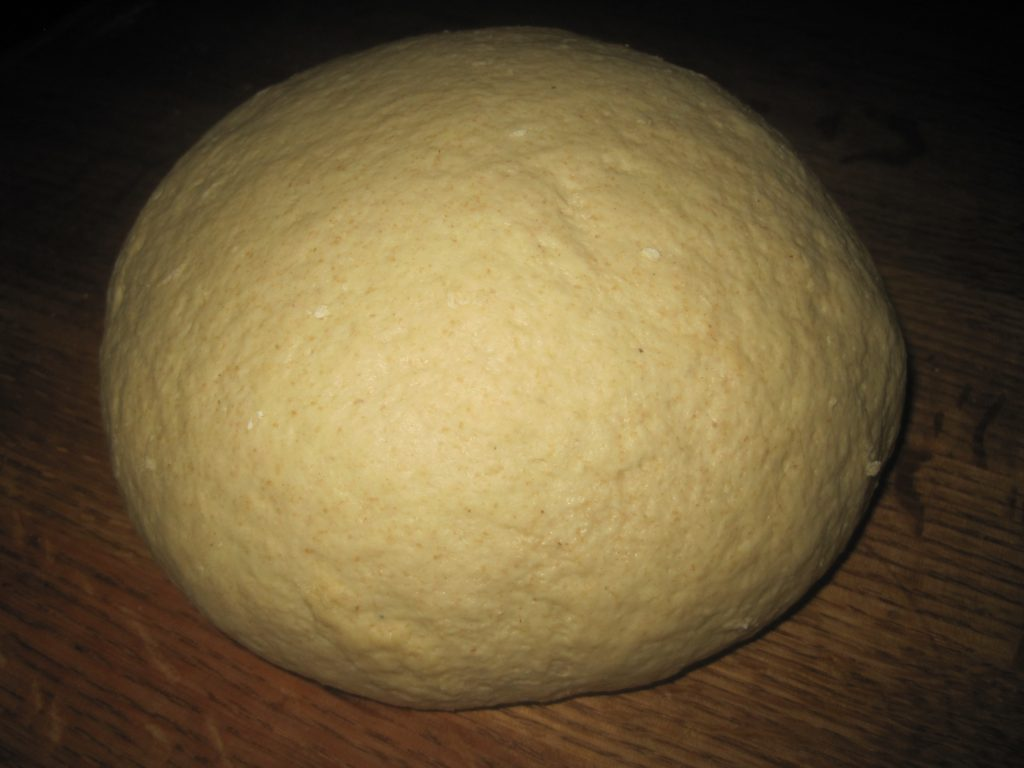 French Bread Dough Ready to Rise