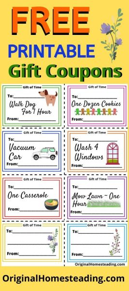 Gifts of Time Coupons FREE Printable promo image