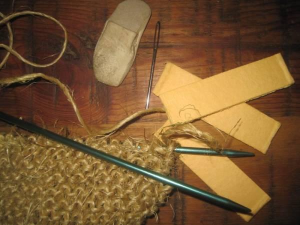 Hand Knit Twine Scrubber