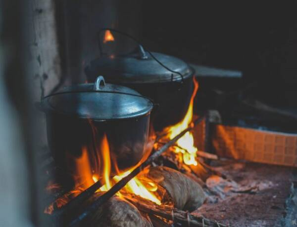 Homemade Fire Starter to start a warm fire in a wood stove