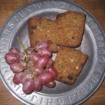 Zucchini Bread and Grapes
