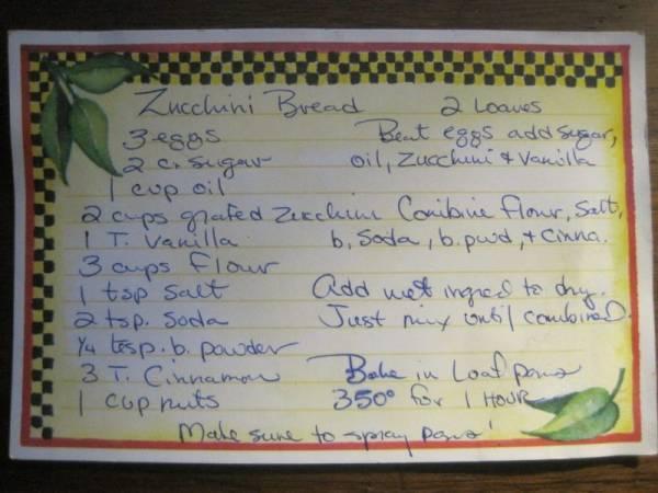 Rewrite of the Original Recipe Card