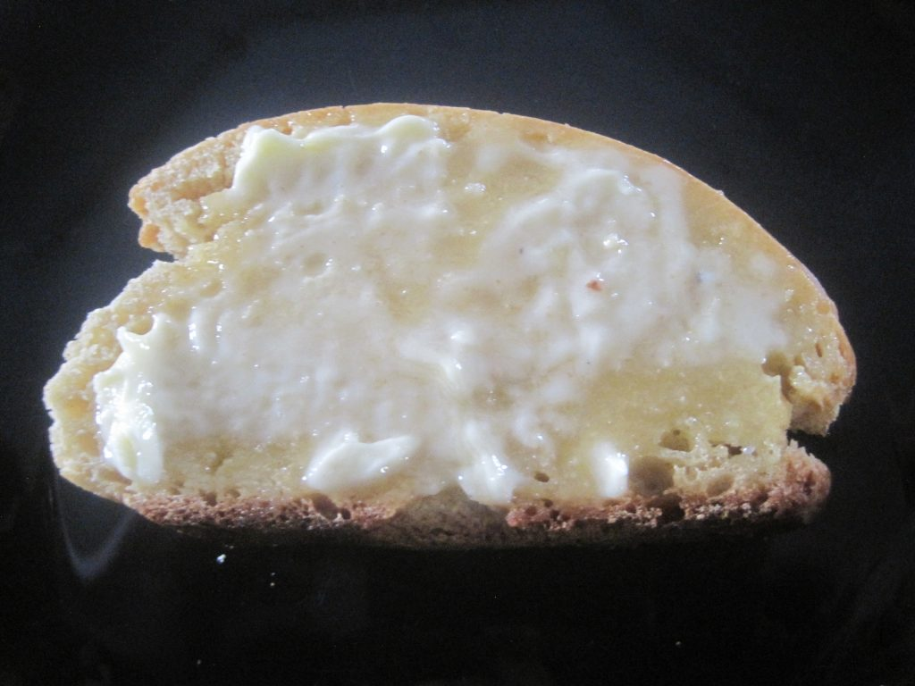 Fresh Homemade French Bread with Soft Butter Spread