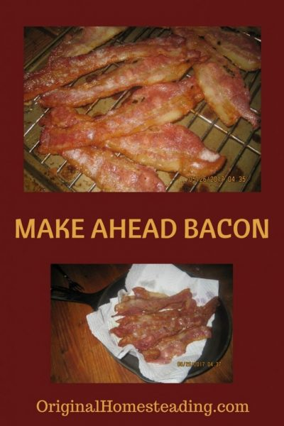 Learn how to cook bacon ahead of time and freeze,.
