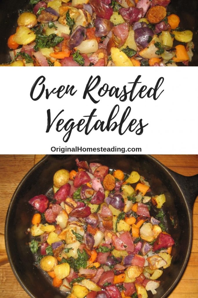 roasted potatoes peppers kale