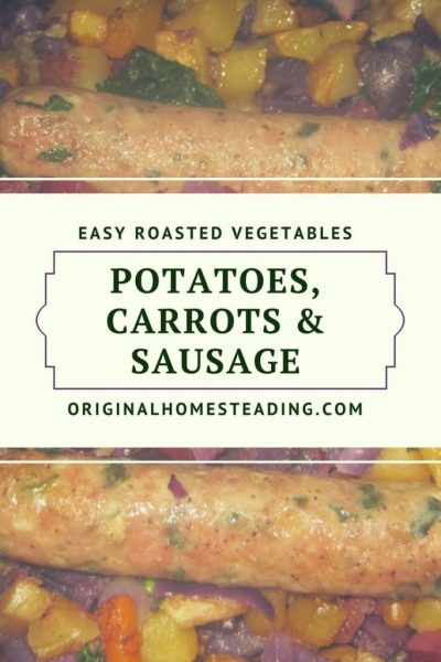 Roasted Potatoes, Onion, Kale with Sausage Dinner