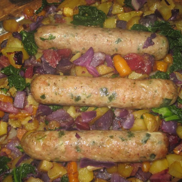 Roasted Vegetables With Sausage Easy Dinner Recipe