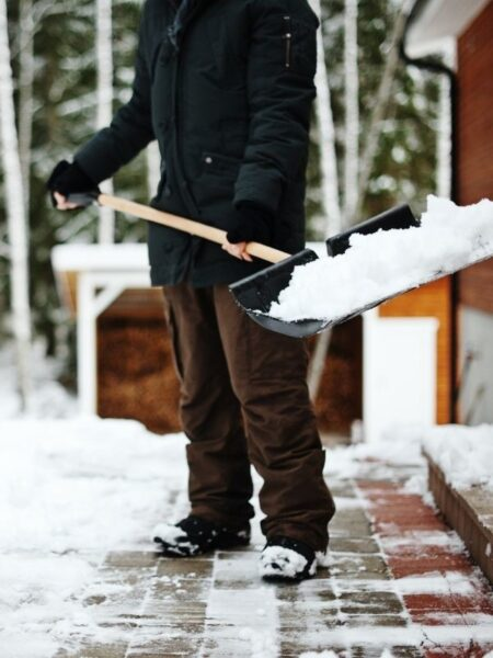 boy shoveling snow Gift of Time Coupon