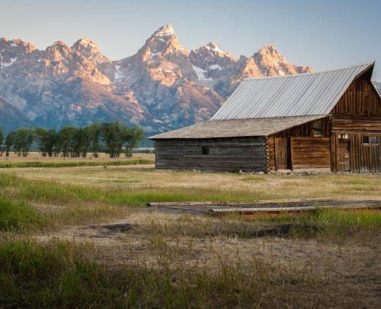 Tetons and Barn