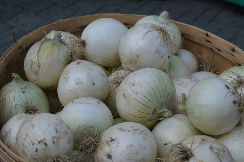 White Onions in Basket