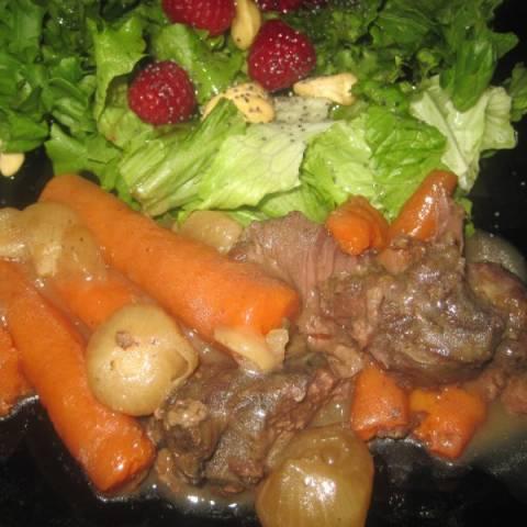 Wild Game Roast with Carrots and Onions