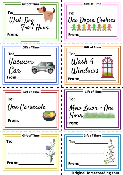Simple Gifts of Time Coupons